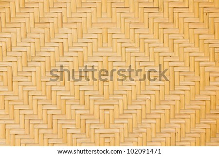 Texture of Bamboo Basketry