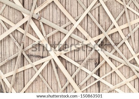 Texture of bamboo fence - stock photo