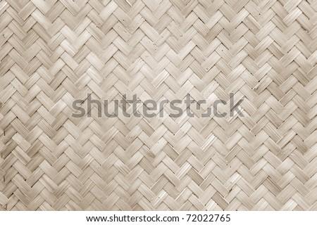 Texture of Bamboo Handicraft Detial - stock photo