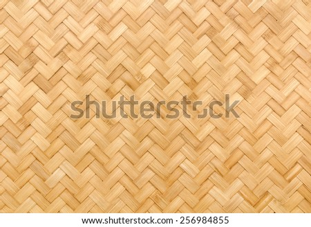 Texture of bamboo wall background  - stock photo