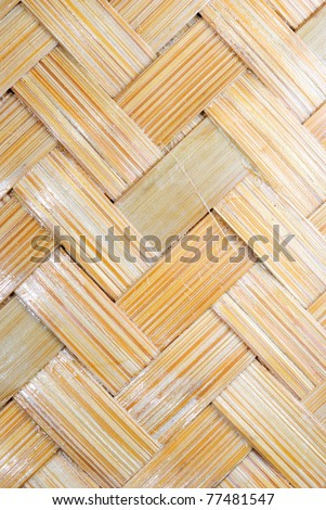 Texture of bamboo weave,used for background - stock photo