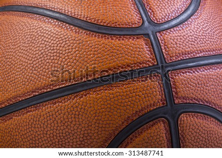 Texture of Basketball - stock photo