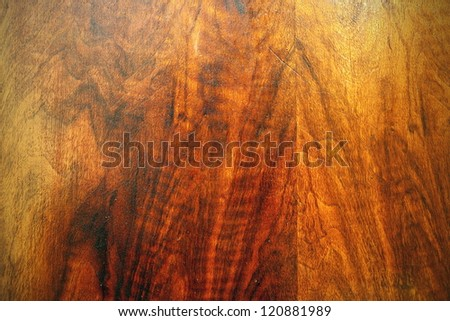 texture of beautiful oak plywood on an old furniture - stock photo