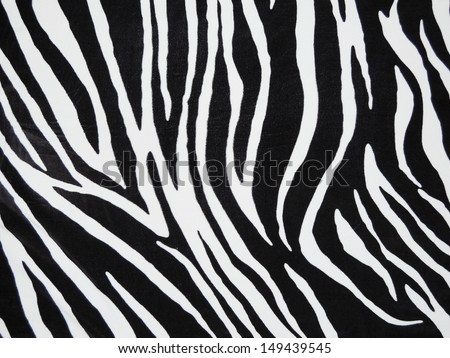 Texture of black and white zebra textile
