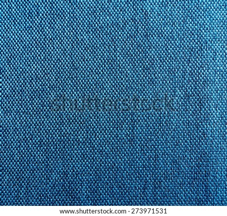 Texture of blue fabric background - stock photo