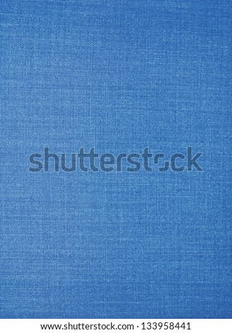 Texture of blue fabric background closeup - stock photo