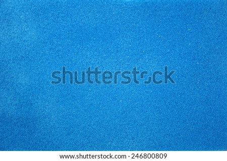 texture of blue foam rubber - stock photo