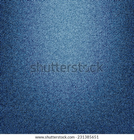 Texture of blue jeans textile close up, illustration version - stock photo