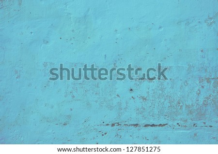 Texture of blue sea exposed concrete wall. - stock photo