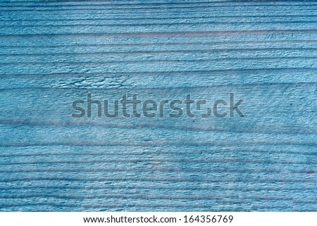 Texture of blue wood background closeup - stock photo