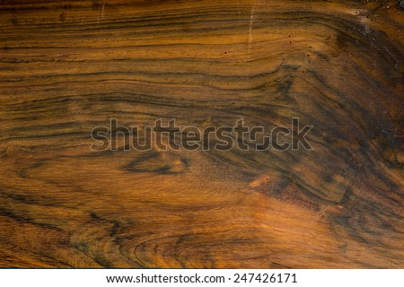 Texture of Brazilian Rosewood, Endangered Species of Wild Flora, used as background - stock photo