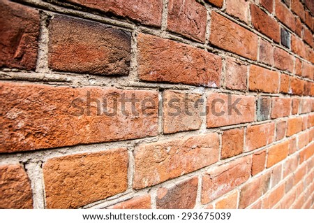 texture of bricks. Texture of old brick building - stock photo