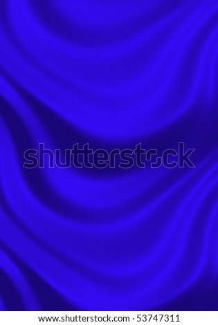 texture of bright blue silk close up