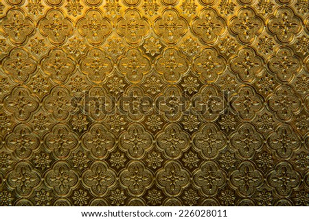 Texture of brown glass panel, Thailand.