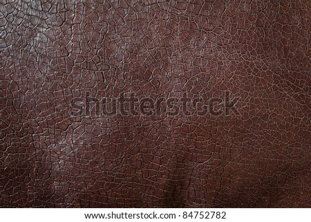 texture of brown leather for background - stock photo