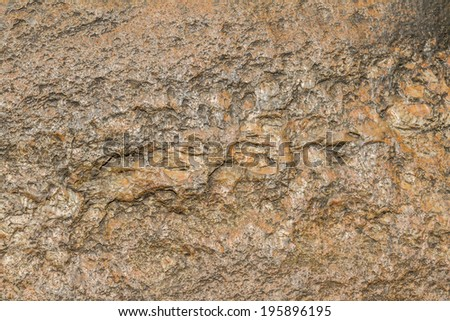 Texture of brown stone with rough surface - stock photo