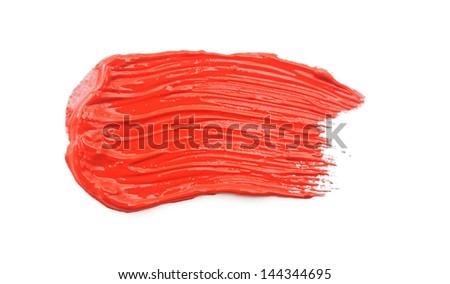 texture of brush strokes on white background - stock photo