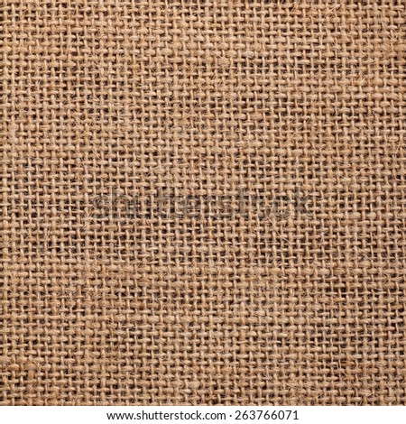 texture of burlap material background square format - stock photo