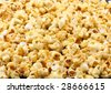 Texture of caramel popcorn. Close-up. - stock photo