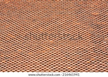 Texture of Chinese or Japanese rooftop - stock photo