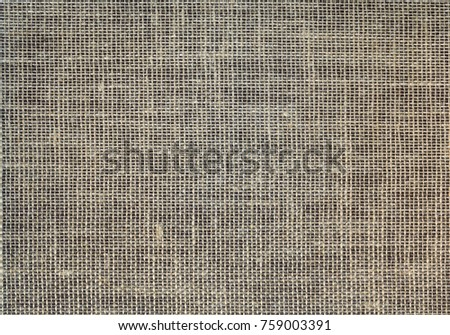 texture of coarse linen fabric