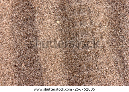Texture of coarse sand with dirt and marks. - stock photo