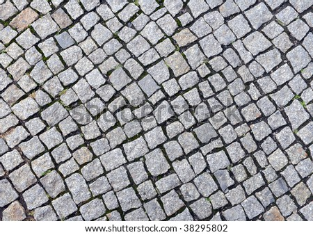 Texture of cobblestone background.