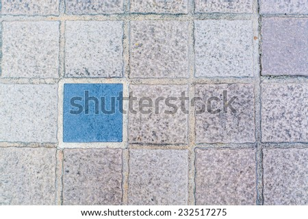 texture of cobblestone road - stock photo