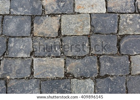 Texture of cobblestone road, Moscow, Russia, Red Square