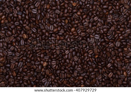 texture of coffee beans. roasted coffee beans, can be used as a background. Brown coffee beans, close-up of coffee beans for background and texture - stock photo