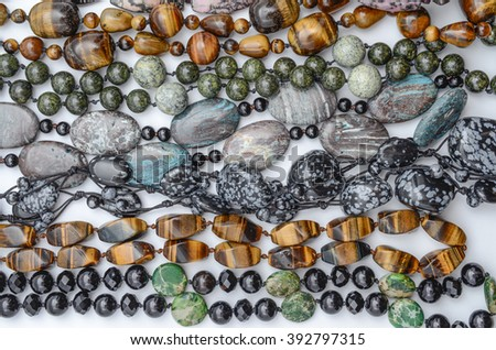 texture of color beads