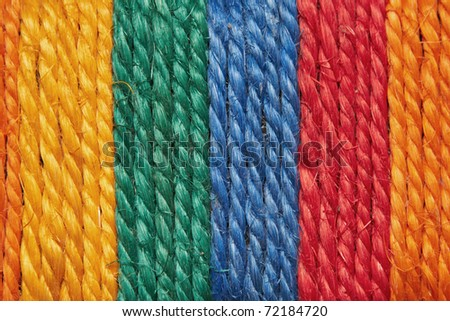 texture of color rope - stock photo