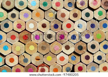 Texture of colored pencils - stock photo