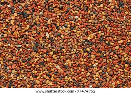 Texture of colorful stones and sands. High-quality photo. - stock photo