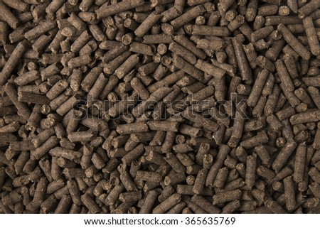 Texture of compressed organic fertilizer for use on agriculture.