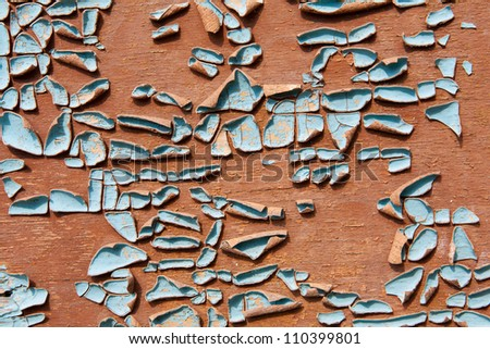 Texture of contrast paints shabby wooden surface - stock photo