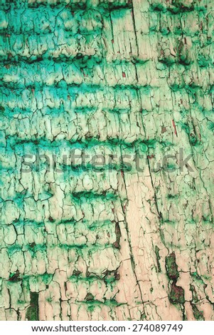 Texture of cracked rough wood surface painted - stock photo
