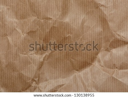 texture of crumpled brown paper