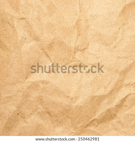texture of crumpled brown paper - stock photo