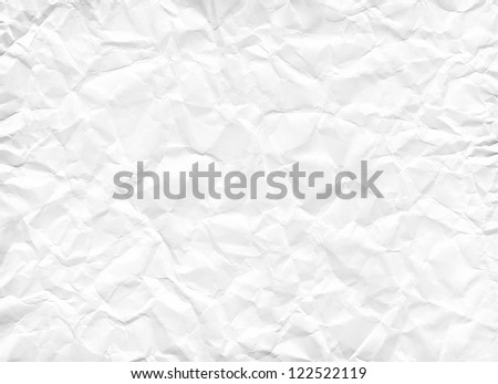 Texture of crumpled white paper. Hi res - stock photo