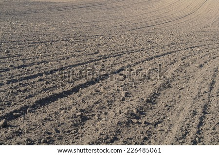 Texture of cultivated field