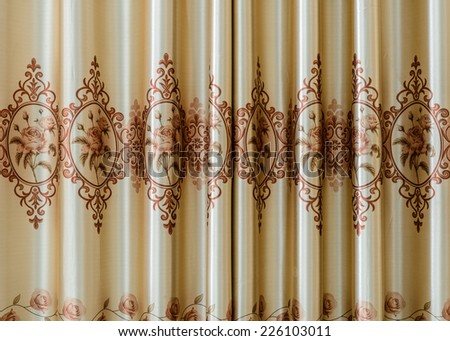texture of curtain or drapery for background - stock photo