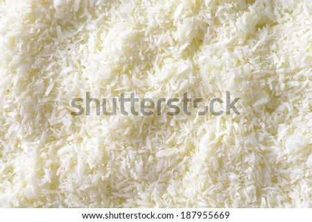 Texture of desiccated coconut - stock photo