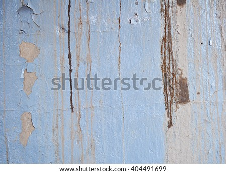 Texture of Dirty Wall with Peeling Old Oil Paint - stock photo