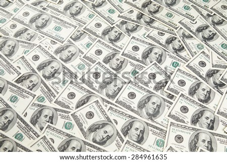 Texture of dollar banknotes
