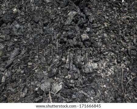 Texture of ember and coal. Nobody. - stock photo