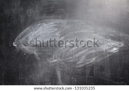 texture of erased black chalk board - stock photo