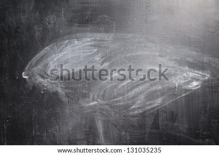 texture of erased black chalk board - stock photo