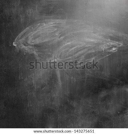 texture of erased black chalkboard - stock photo