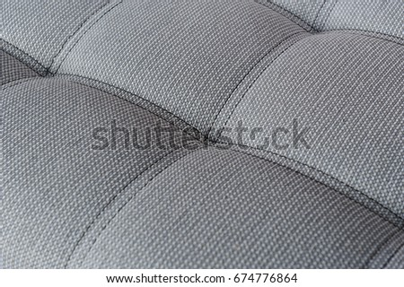 Texture Of Fabric Gray Sofa With Firmware